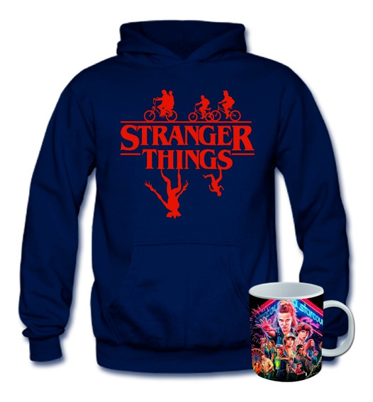 Poleron Estampado Stranger Things+taza Mug The King Store 10