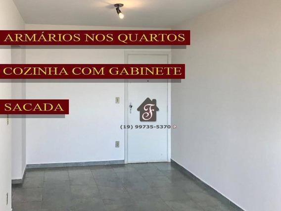 Apartamento Com 2 Dormitórios Para Alugar, 65 M² Por R$ 970/mês - Vila Industrial - Campinas/sp - Ap1367
