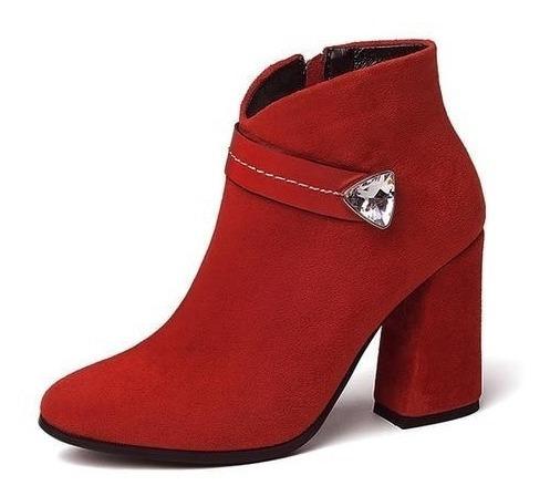 Ankle Boot Feminina J&k 08750 Importado