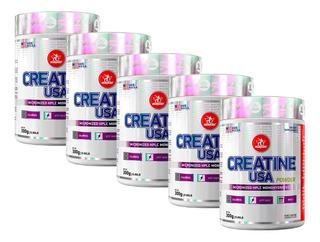 5 Creatina Powder Usa Monohidratada 300g Midway + Com Nf-e