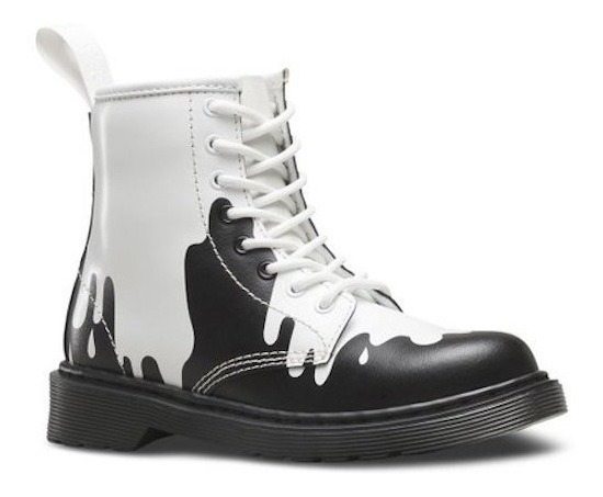 Borcego Bota Dr Martens Black&white Paint Nene Nena