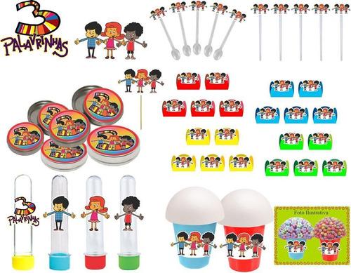 Imagem 1 de 8 de Kit Festa Infantil 3 Palavrinhas 143 Peças