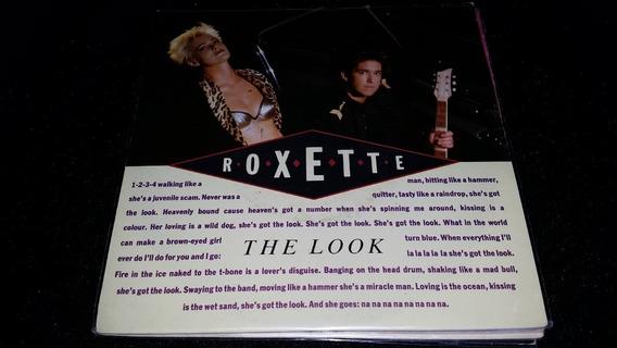 Roxette The Look Vinilo Simple Ingles 1989 Excelente