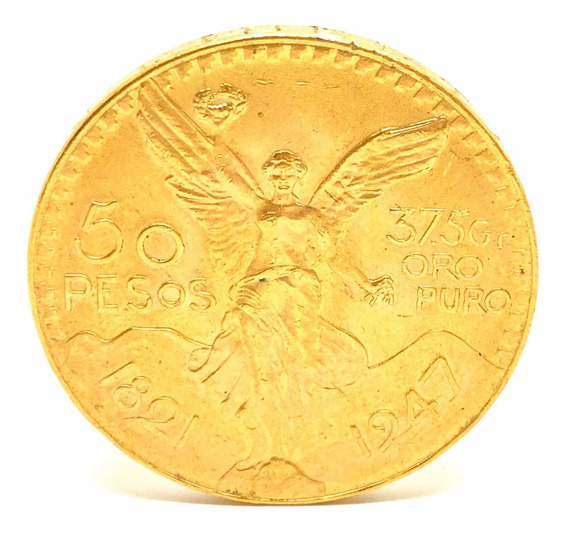 Moneda Mexicano Oro 50 Pesos