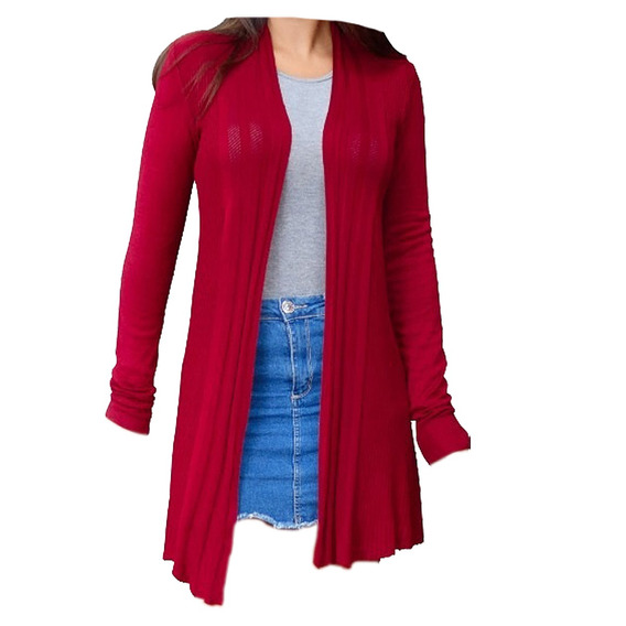 Blusa Frio Top Blusa Camisa Feminina Cardigan Tricot 763