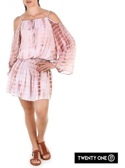 Vestido Moda Casual Color Beige