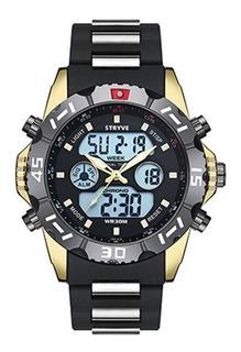 Reloj Stryve 8010 Deportivo Cronometro Alarma Fecha