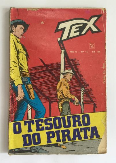 Tex Nº 14 - 1ª Edição - O Tesouro Do Pirata - Frete Grátis