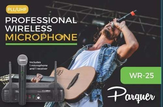 Microfono Inalambrico Profesional Uhf Parquer