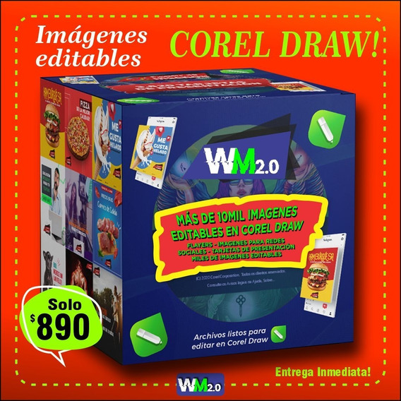 Paquete De Diseños Editables En Corel Draw