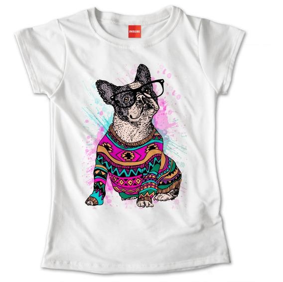 Blusa Perro Pug Mascota Suéter Lentes Dama Playera #734