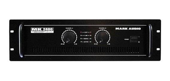 Amplificador Potência 400w Mark Áudio Mk 2400 2canais Bivolt