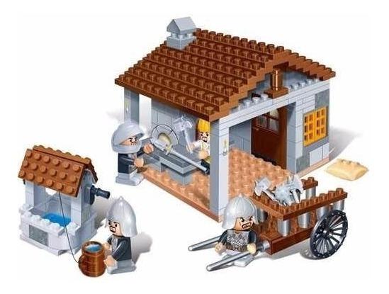 Blocos De Montar Armazém De Armas Medieval Banbao 8266