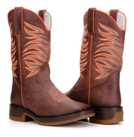 Bota Texana Country Masculina Couro Legitimo Capelli Boots