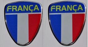 Par Emblema França Para Coluna Porta Peugeot Renault Citroen