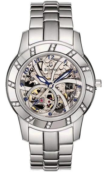 Relógio Feminino Bulova Diamond Automatic Wb38151q Aço