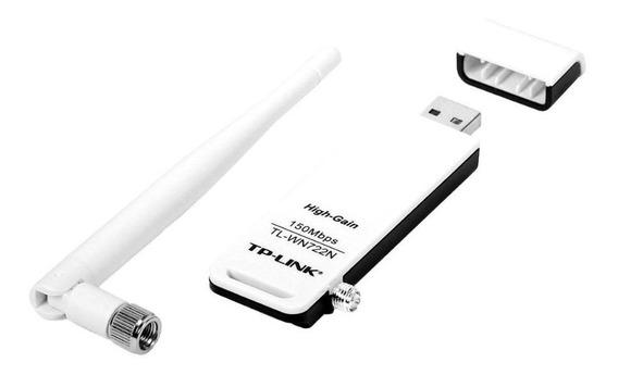 Placa De Red Wifi 722n Tp Link Adaptador Receptor Usb 300mbps