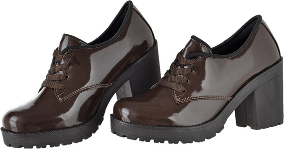 Oxford Feminino Plataforma Salto Tratorado Cr Shoes 1710