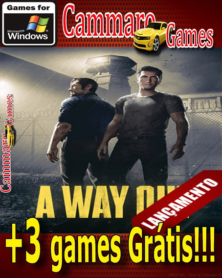A Way Out ( Pc) + 3 Games Grátis