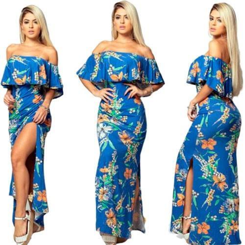 0df8472db Vestido Longo Tomara Que Cai Floral Ref 011 - R$ 60,00 em Mercado Livre