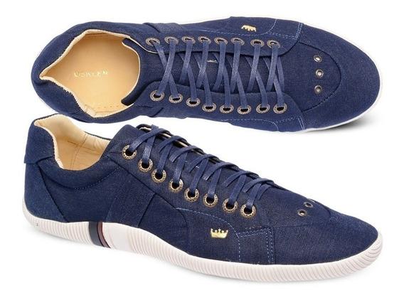 Sapatênis Riva Osklen Em Lona Jeans Azul Original - Skm 378