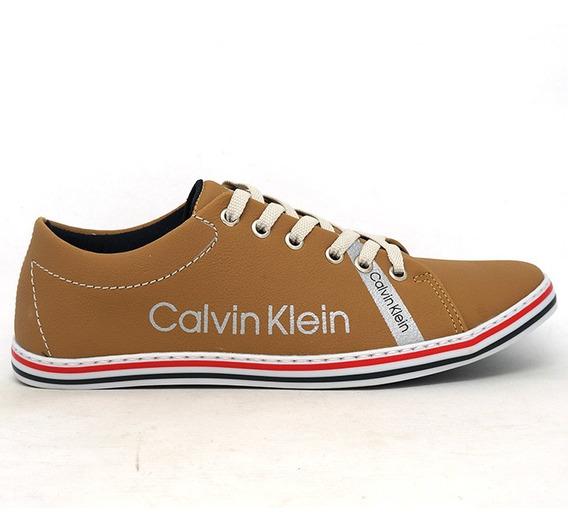 Sapatenis Calvin Klein Marrom Caramelo
