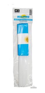 Banderitas Plásticas Argentinas -15x21 Con Sol X144 Unidades