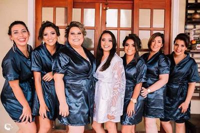 Robe De Cetim Personalizado, Noiva, Casamento, Dia Da Noiva