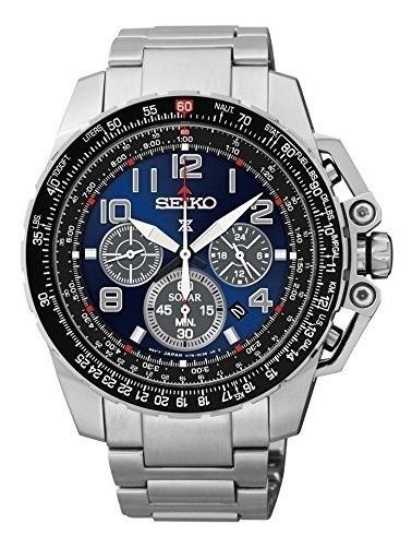 Relógio Seiko Ssc275 Sportura Solar Chronografo Japan