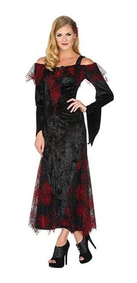 Disfraz Bruja Vampiresa Vampira Mujer Reina Halloween Pupito