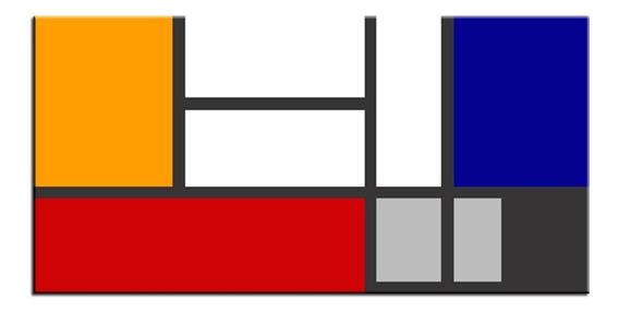 Quadro Pintura Tela Abstrato 80 Cm X 1,60 Metro ( Mondrian )