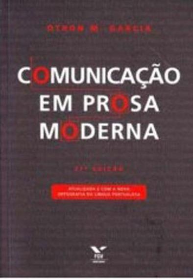Comunicaçao Em Prosa Moderna - Aprenda A Escrever Aprenden