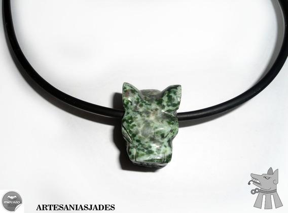 Dije Cabeza De Jaguar, Jade Jaguar,prehispánico-chalchihuite