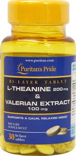 Extracto De Valeriana 100mg Teanina 200mg 30 Tabletas