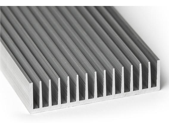 Disipador Aluminio Económico Grande Led Grow 10 X 30 Cm.