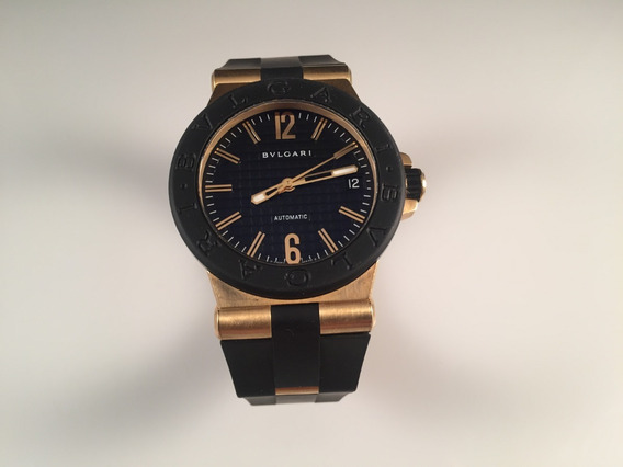 Reloj Bvlgari Diagono Ladies 35mm, De Oro Amarillo 18 Kt