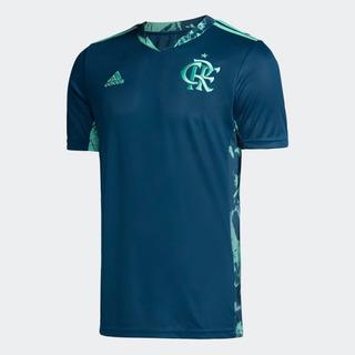 Camisa De Goleiro Original Cr Flamengo I Azul 2020 Ed9163+nf