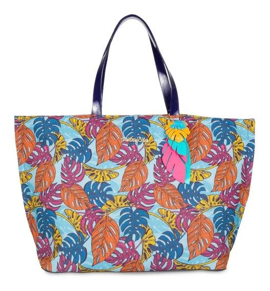 Bolsa De Praia Summer Petite Jolie Azul/colors Pj4804
