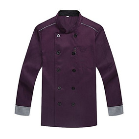 Waiwaizui Chef Coat Chef Jacket Service Uniform Long Sleeves
