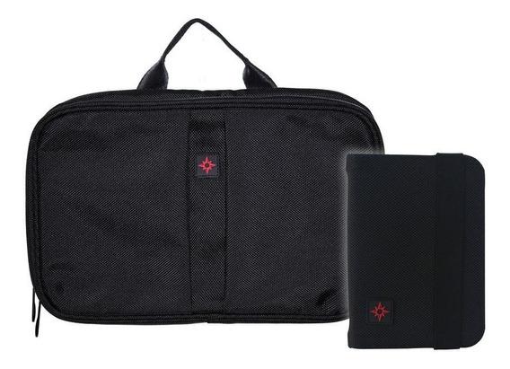 Kit Porta Pasaporte Y Neceser Organizador De Viaje