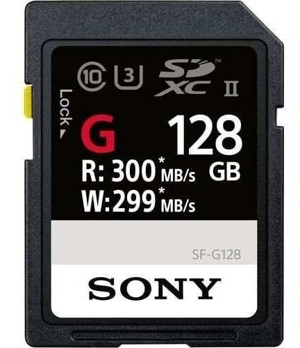 Cartão Sdxc 128gb Sony Uhs-ii U3 Série G 300mb/s(classe10)to