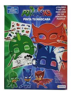 Juego Pinta Tu Mascara Pj Mask 0809 Envio Full (1241)