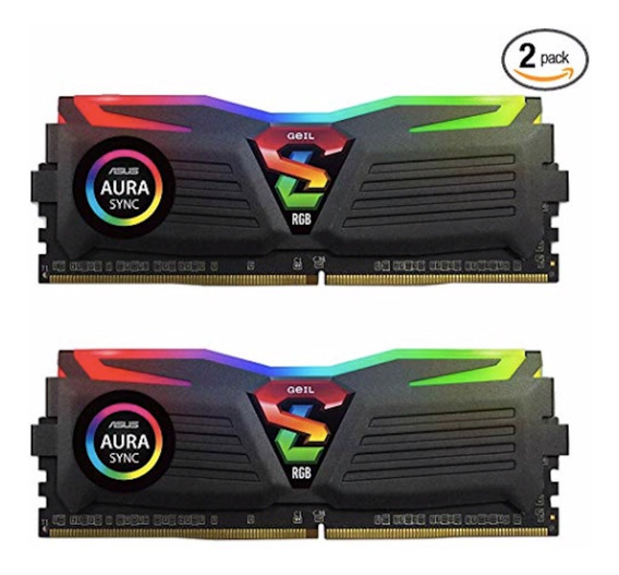 Memoria Ddr4 16gb (2x8gb) 3200mhz Geil Super Luce Rgb