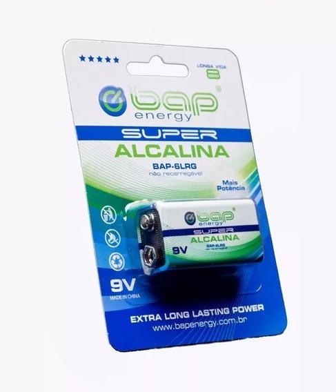 Pilha Bateria 9v Super Alcalina Bap-6lrg Energy
