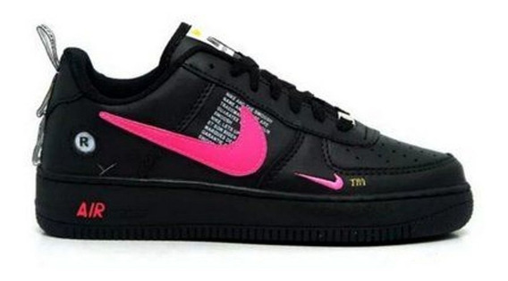 Tênis Air Force Nike Preto Com Rosa