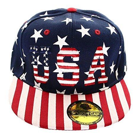 Ee.uu. Bandera Americana Impresa La Gorra De Béisbol Del Sna