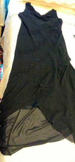 Vestido De Fiesta En Gasa Con Pedrería Casi Nuevo Moda