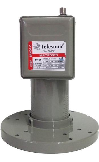 10 Lnbf Multiponto Banda Estendida Telesonic-com Filtro