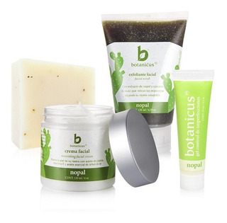 Kit Para Cuidado De La Piel Grasa Anti Acné Exfoliante, Crema Facial Orgánica Botanicus