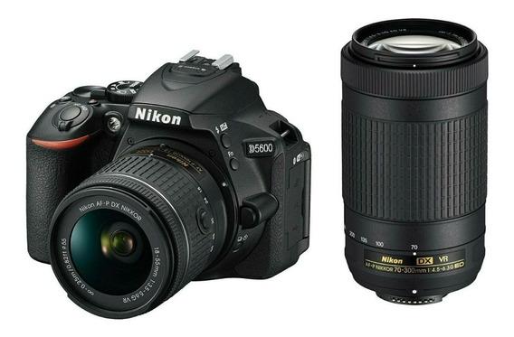 Nikon Reflex D5600 Kit 18-55mm+70-300mm 1 Año Garantia